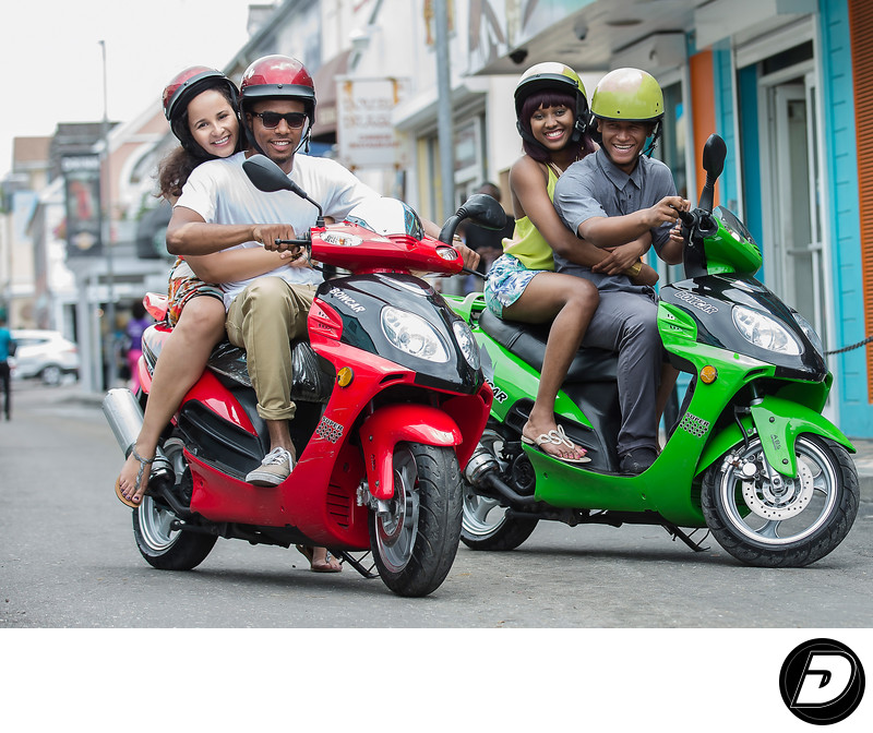 Better in The Bahamas Scooter Riding Couples Photographer