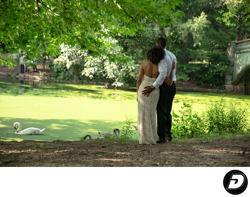 Prospect Park Lake Engagement Photographer