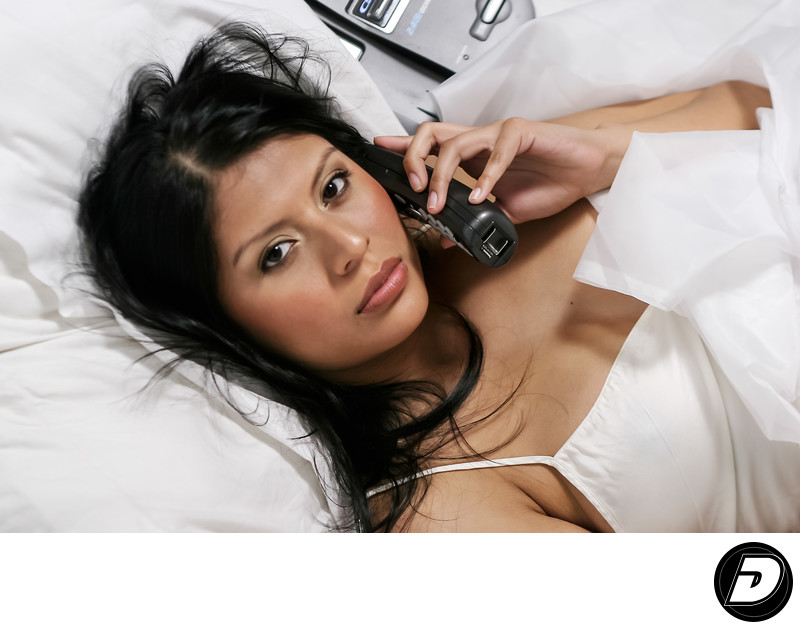 Latina Woman Telephone