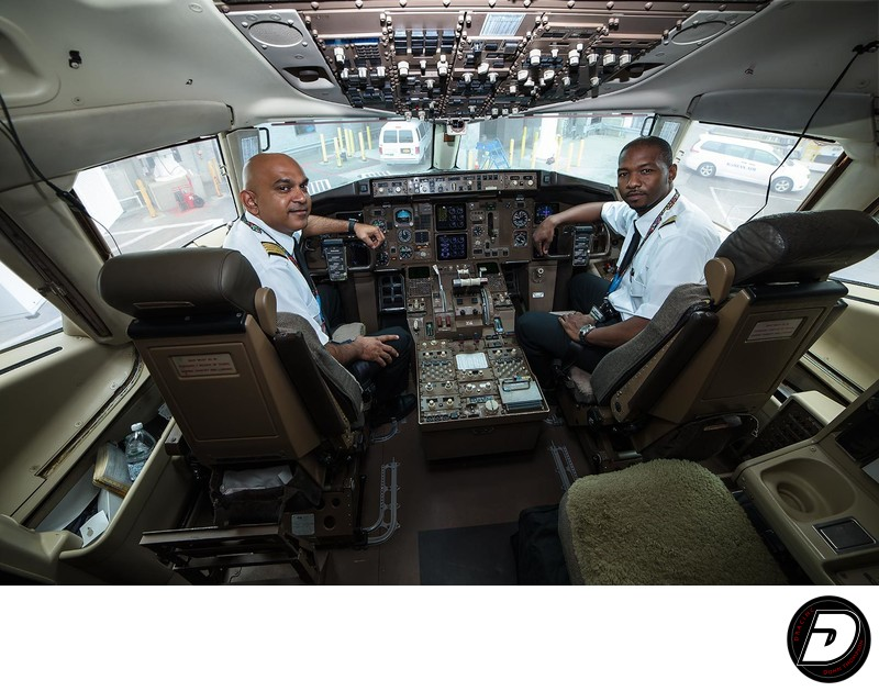 Fly Jamaica Pilots Cockpit JFK Airport
