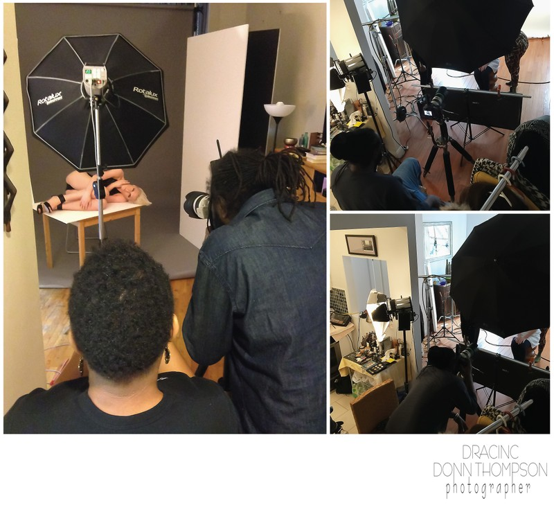 Dracinc Studio Set Up Beauty Shoot.