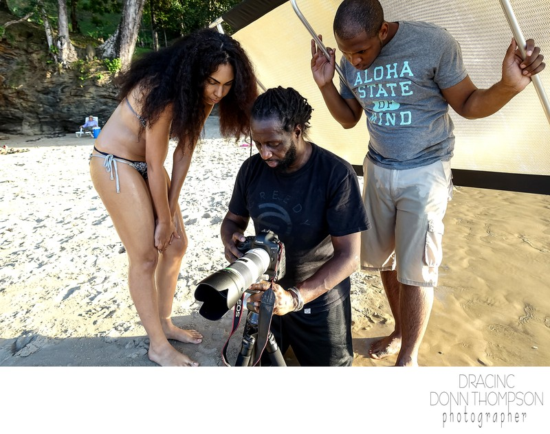 Behind the Scenes Female Model Male Crew Trinidad