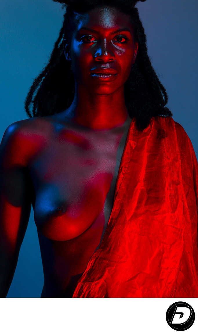 Black Skin Semi Nude Photographer