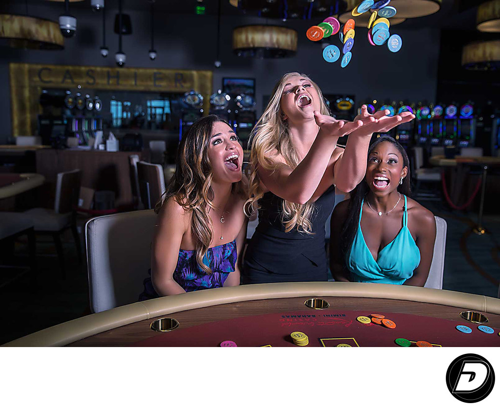 Resorts World Bimini Casino Three Women Lifestyle Photo