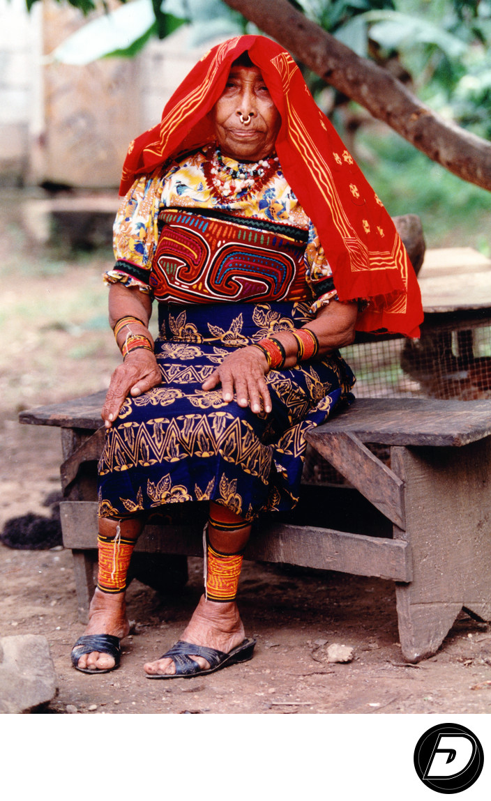 Panama Kuna Indigenous Indian Woman Photography