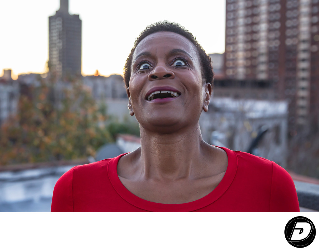 New York Actor Headshots Funny Face Black Woman