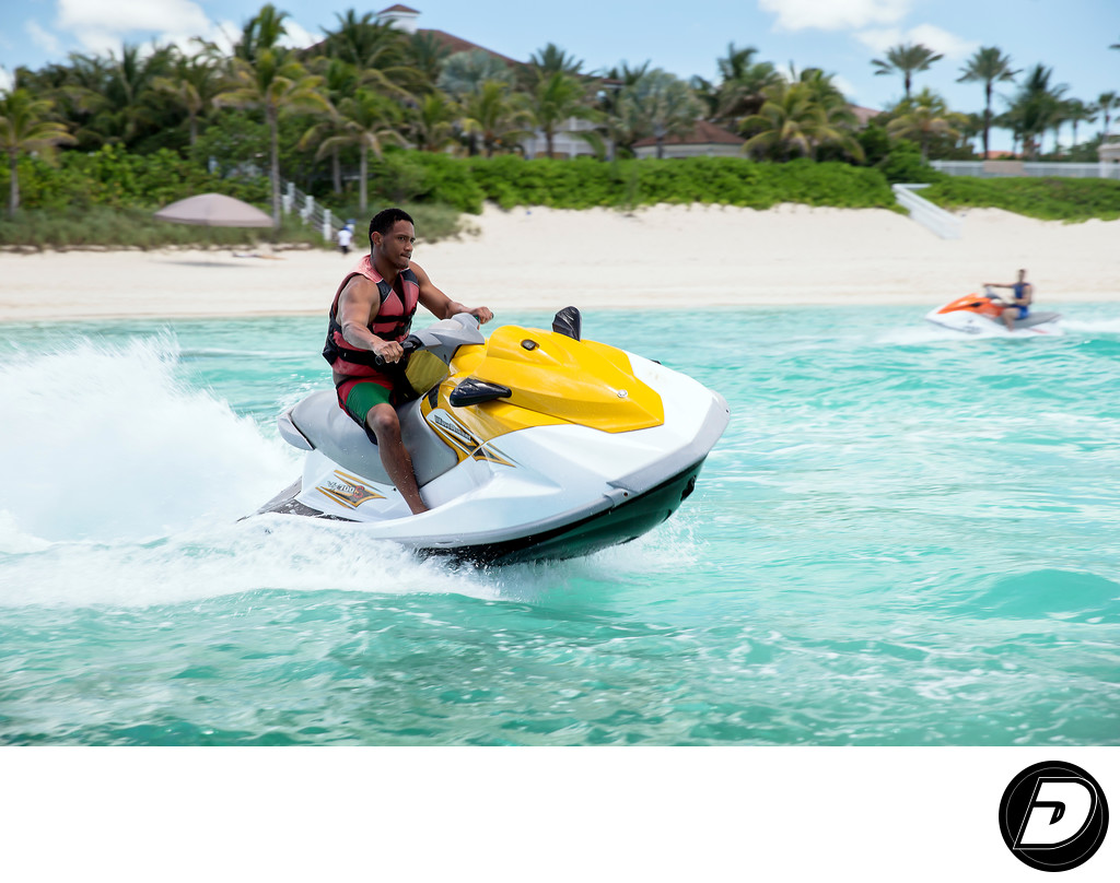 Bahamas Jet Ski Cabbage Beach Photo