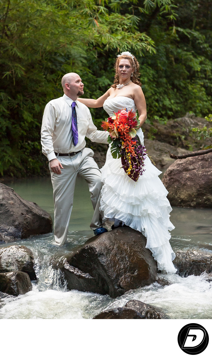 Saint Lucia Wedding Photographer River Couple