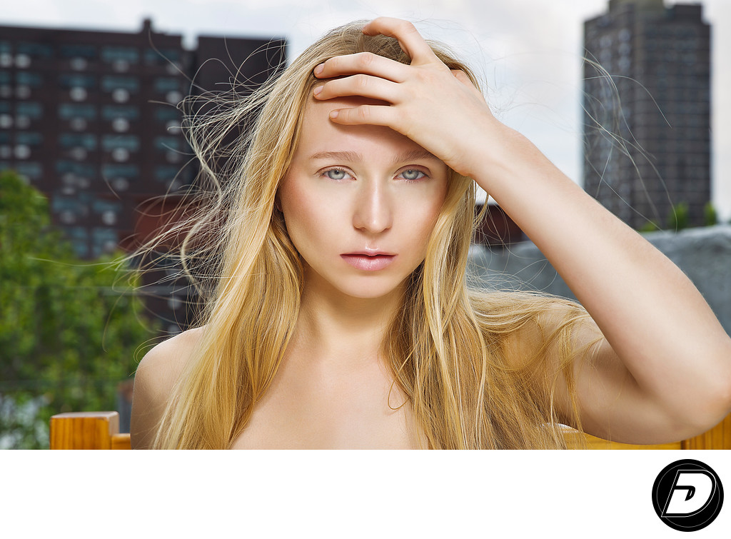 Harlem Rooftop Blonde Beauty Photographer