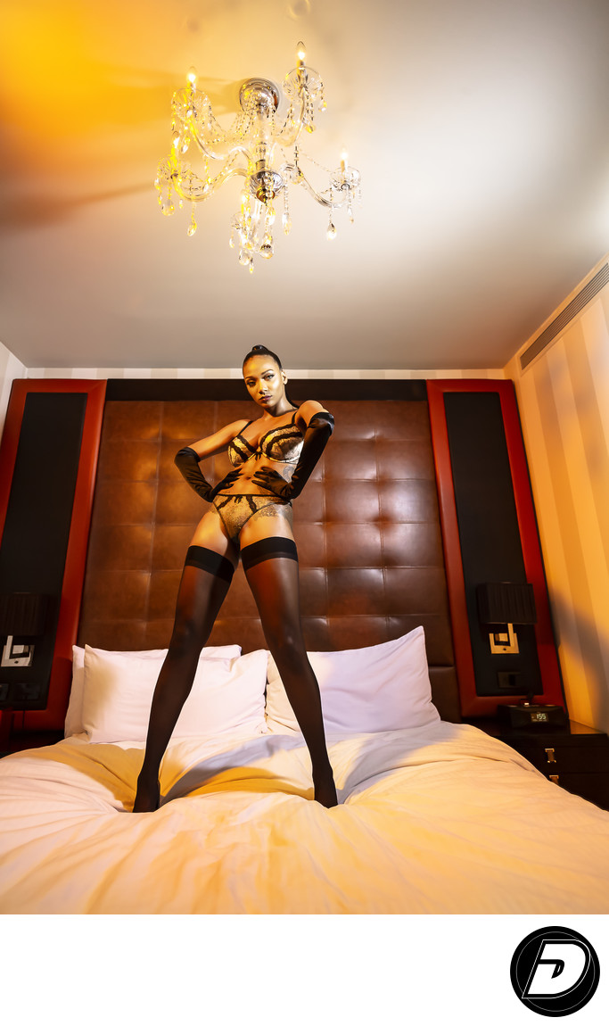 New York Boudoir Photographer Sanctuary Hotel Yellow