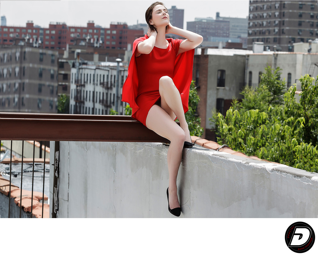 New York Fashion Photographer Red Dress