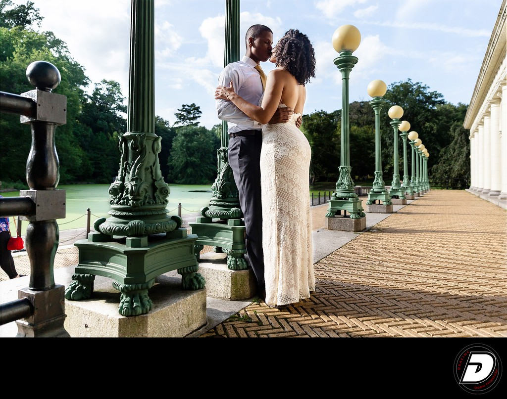 Brooklyn Prospect Park Engagement- Boat House Photo