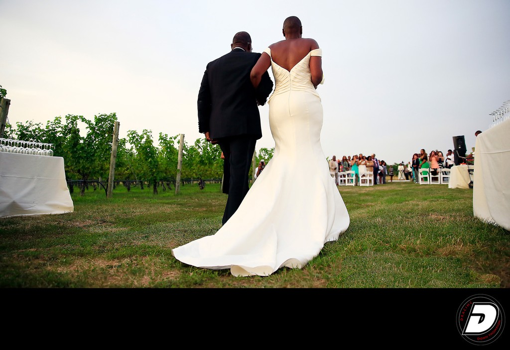 Baiting Hollow Farm Vineyard Wedding Long Walk