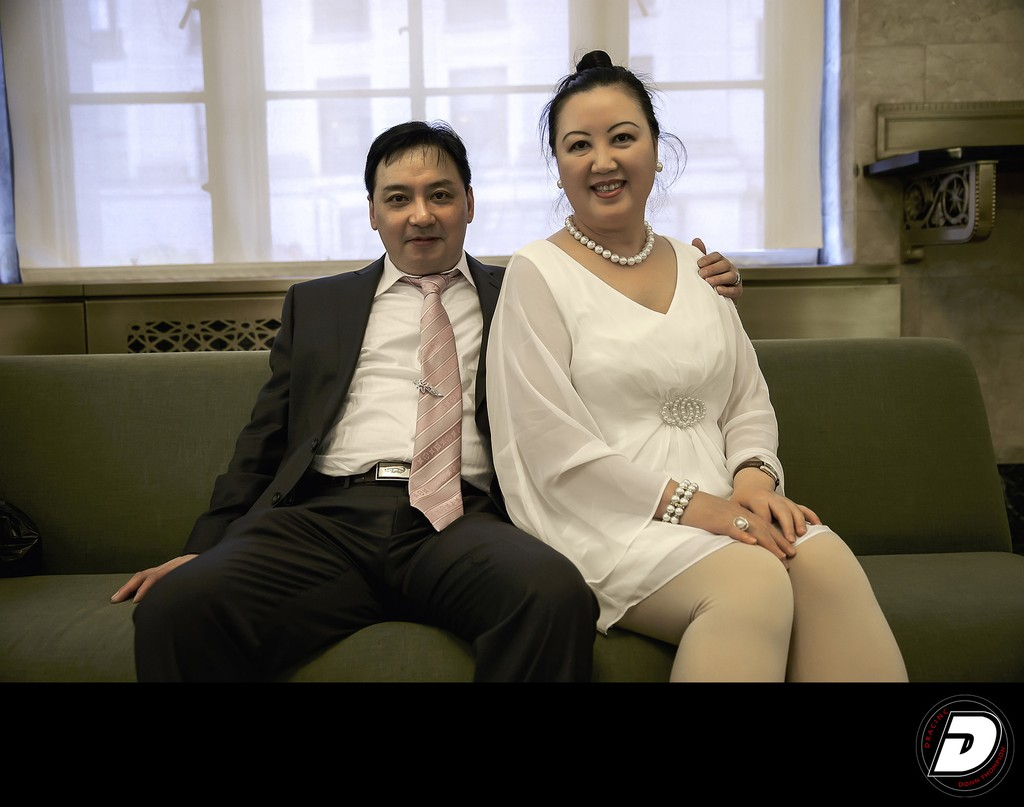 City Hall Asian Wedding Photo