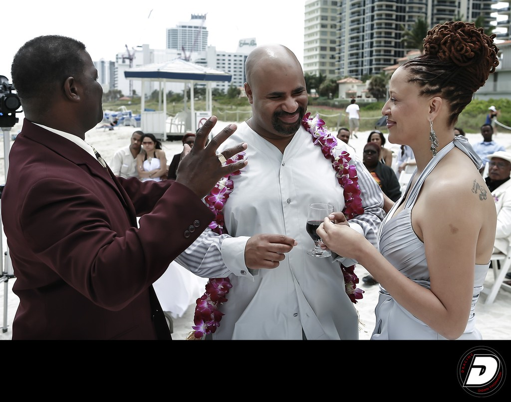 Miami Beach Resort  Wedding Couple