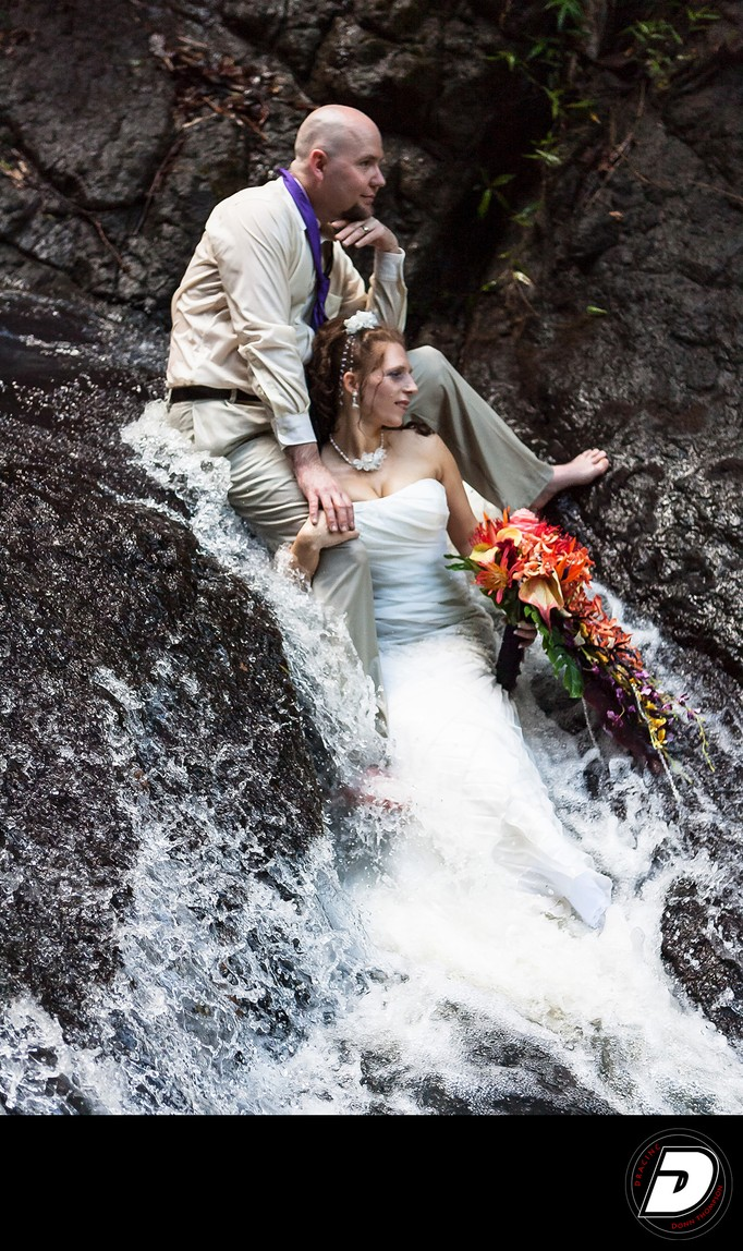Saint Lucia Waterfall Wedding