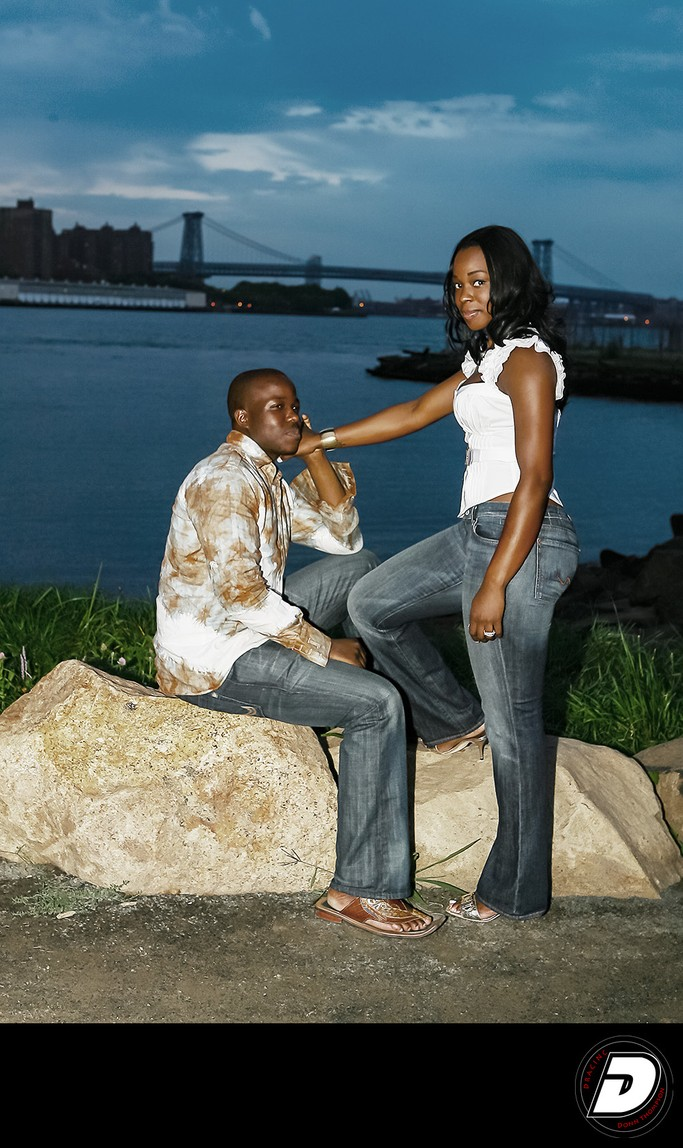 Brooklyn Engagement Photographer- Manhatten Bridge
