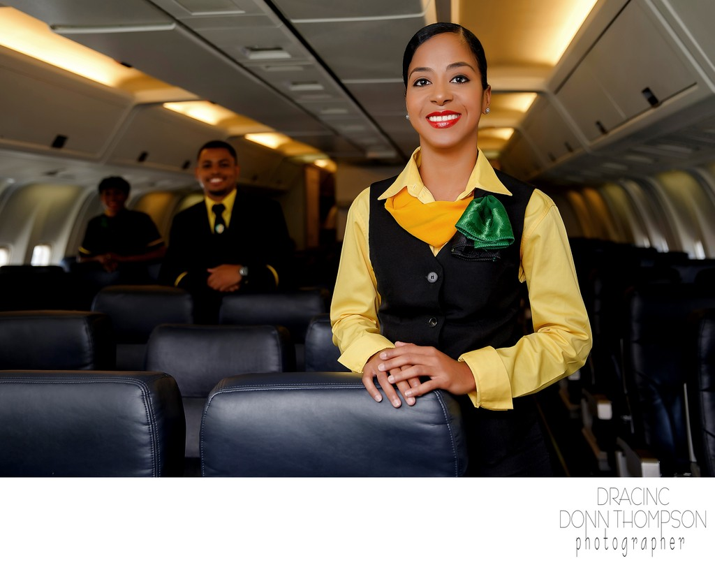 Harlem Portrait Fly Jamaica Flight Attendant