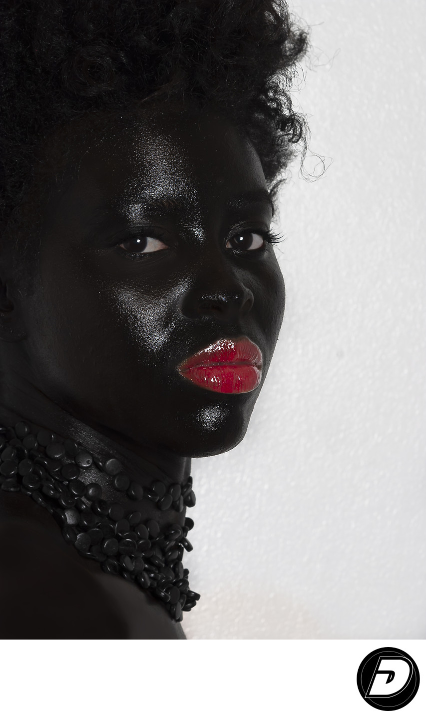 Black Face Makeup Beauty Photographer