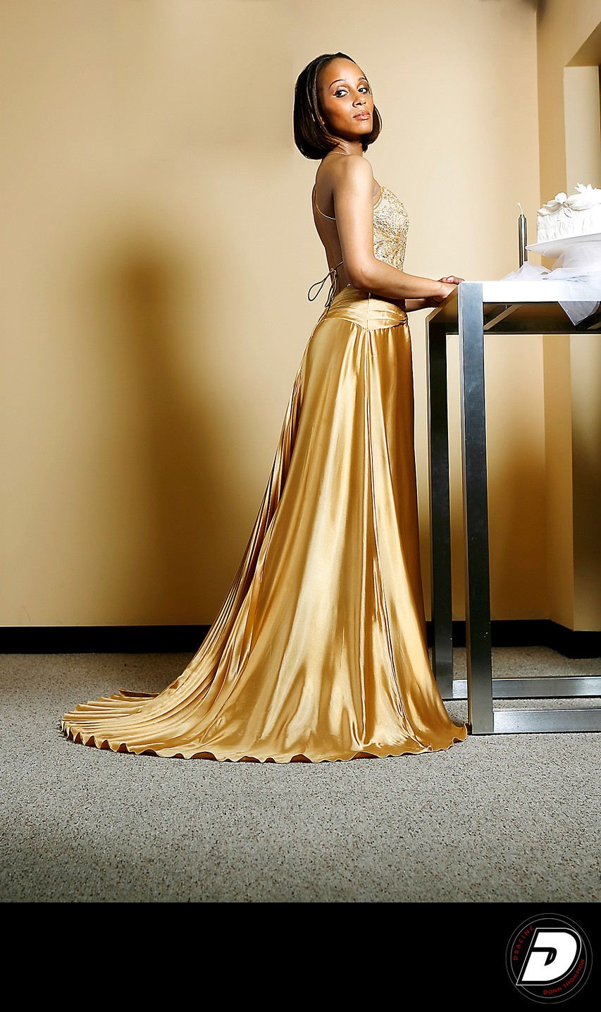 Gold Bridal Wedding Dress Fashion