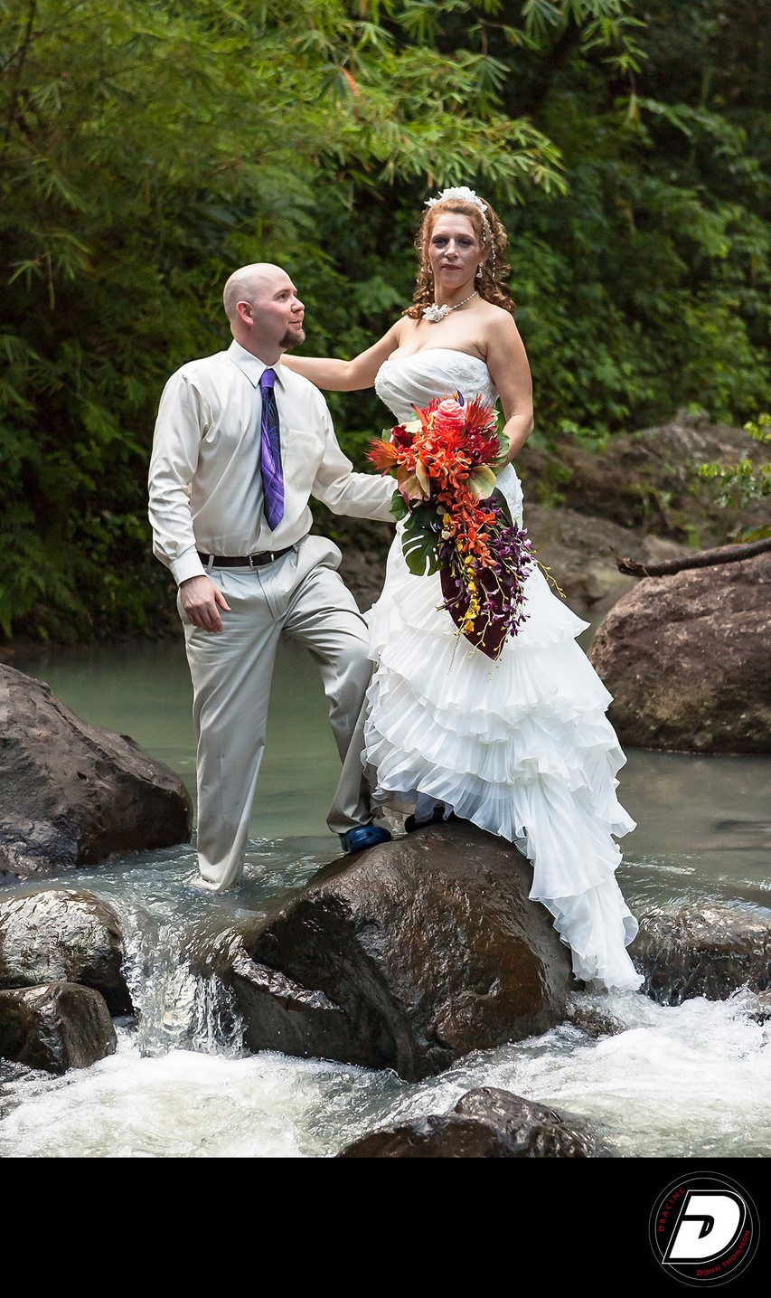 Wedding Couple St Lucia River