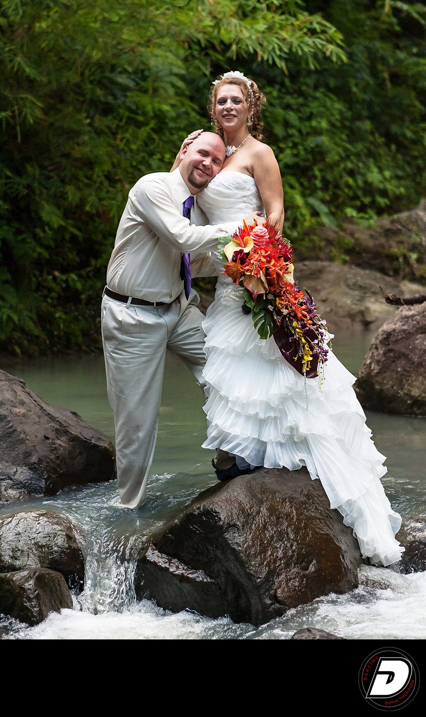 St Lucia River Wedding Couple