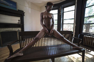 Harlem Brown Stone Long Legs Nude Photo