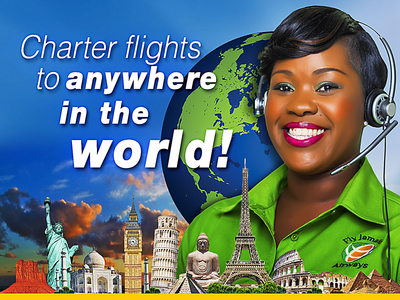 Fly Jamaica Charter Flights Ad Campaign