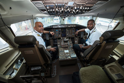 Fly Jamaica Pilots Cockpit JFK Airport NYC Photographer