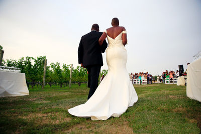 Baiting Hollow Farm Vineyard Bride Wedding Photographer