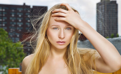 Harlem Rooftop Blonde Beauty