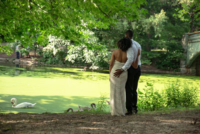 Prospect Park Lake Engagement