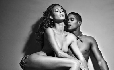 Black & White Nude Couple