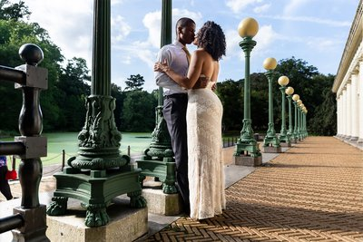 Harlem Engagement Photographer Prospect Park Boat House