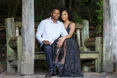 sherine Elliott Fiance and Durell Springer Engagement Session in Propect Park