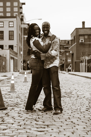 Brooklyn Cobblestone St. Engagement Photos