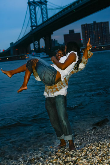 Brooklyn East River Engagement Photographer