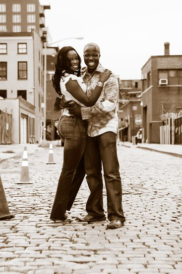 Brooklyn Engagement Cobblestone Street Photos