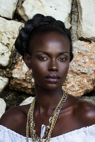 Dark Skin Haiti Woman Photo