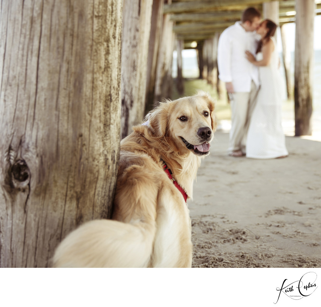 Sandbridge Beach engagement photographer
