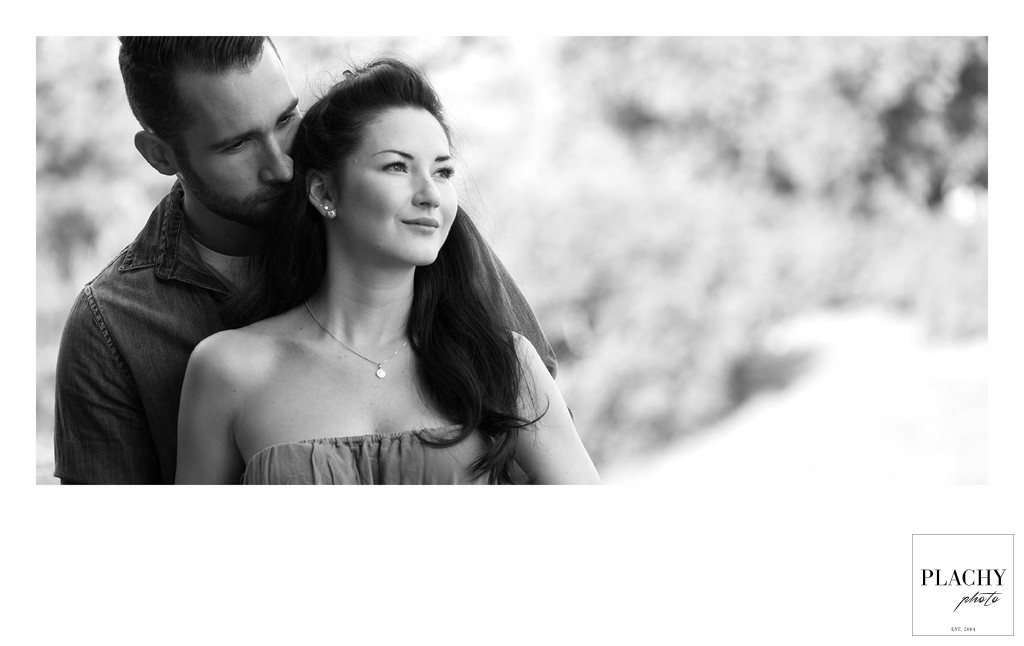 Black and White Love Story photography young couple