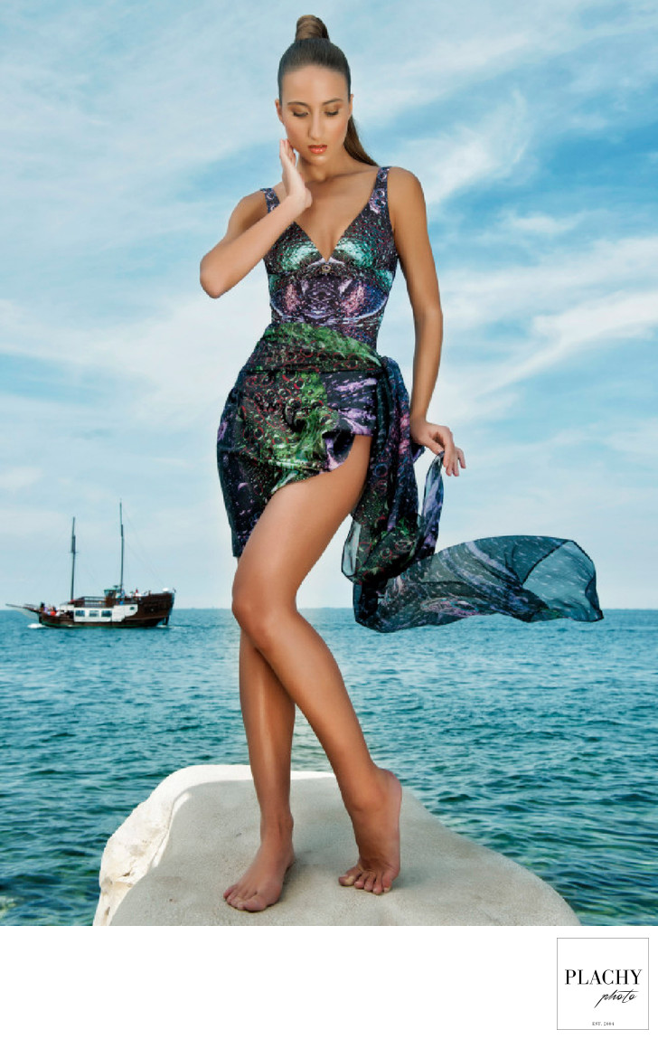 Fashion Photographs  Woman Swimming Suit in Mykonos