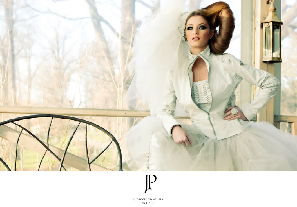 Fashion Photography Wedding Dress in Chateau Mcely
