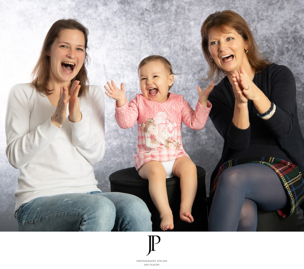 Family Photo Session in Photo Studio Photo Jan Plachy