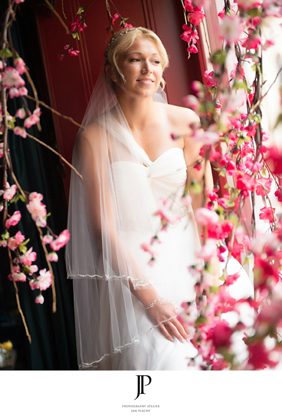 Portraiture Bride in hotel Budha , Prague