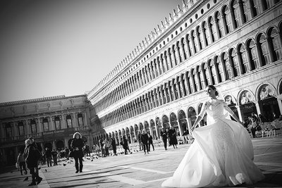 Portraiture Bride in Venezia  San Marco Square