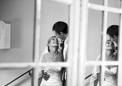 Bride and Groom Reflexion in the Mirror Jan Plachy