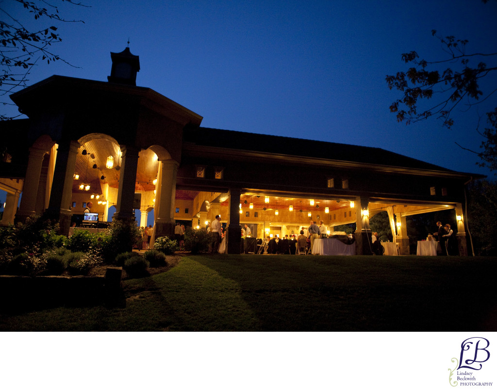 Gervasi Vineyard Pavilion wedding reception