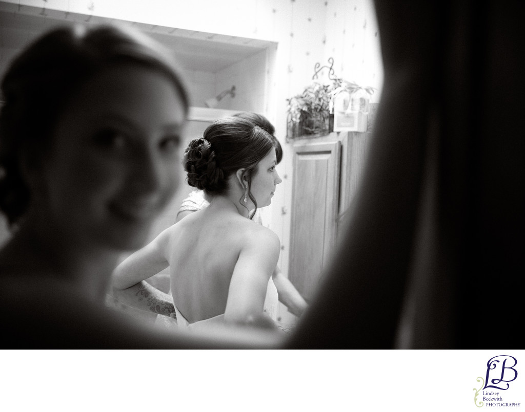 Cleveland Heights bride getting ready