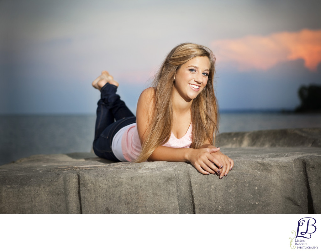 Lake Erie senior portraits